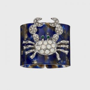 Crab Blue Tortoise Shell Resin Napkin Ring