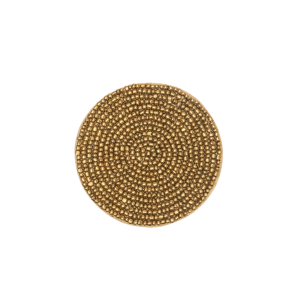 Glass beaded coasters Gold