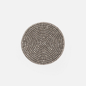 Glass beaded coasters Silver