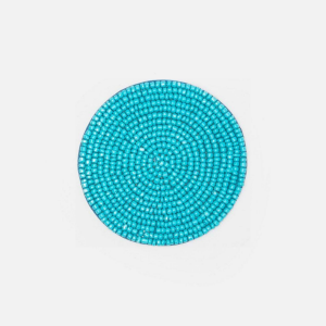 Glass beaded coasters Turquoise
