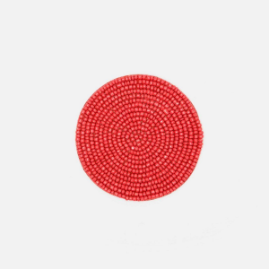Glass beaded coasters coral