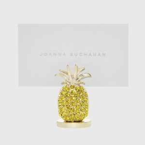 Pineapple place card holders, yellow