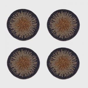 Ombre Coasters In Navy 1