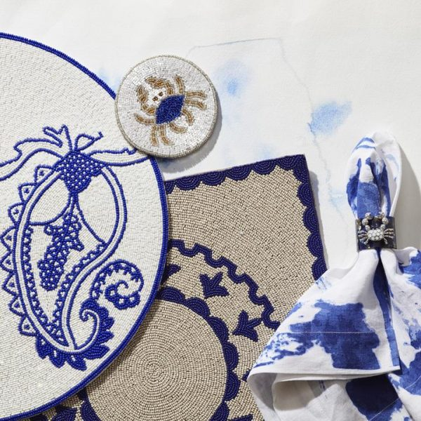 Paisley Placemat in Colbalt 3