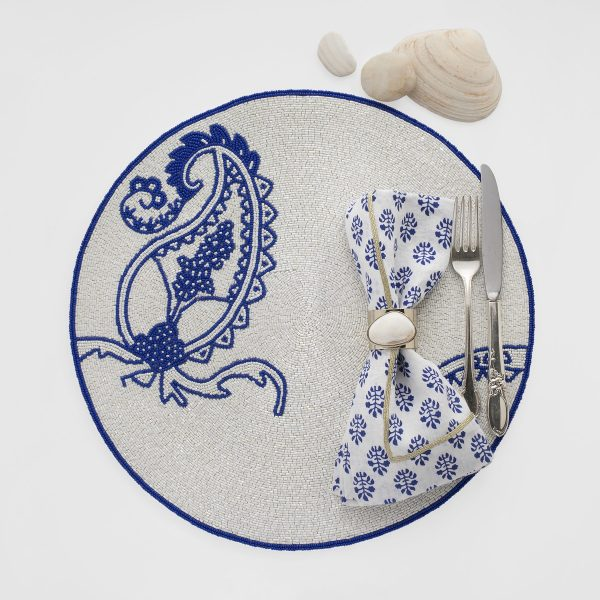 Paisley Placemat in Colbalt