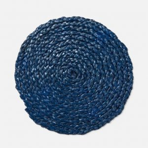 Braided Round Navy Placemat