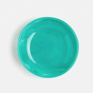 large resin serving bowl in turquoise 1