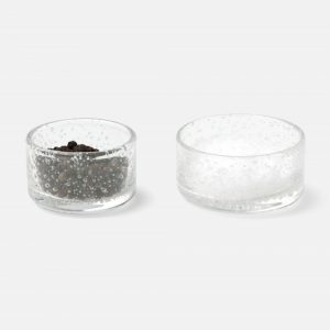 round mini bowls in clear handround mini bowls in clear hand blown glass, set of 2 #1