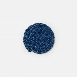 round navy braided coasters, set of 4 #2