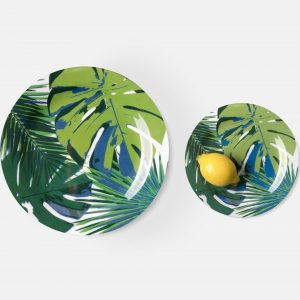 tropical mixed leaf dinner plate, set of 4 #1
