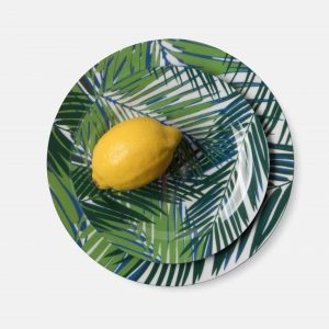 tropical palm leaf dinner plate, set of 4 #1