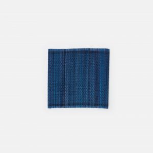 woven square coasters in navy, set of 8 #1