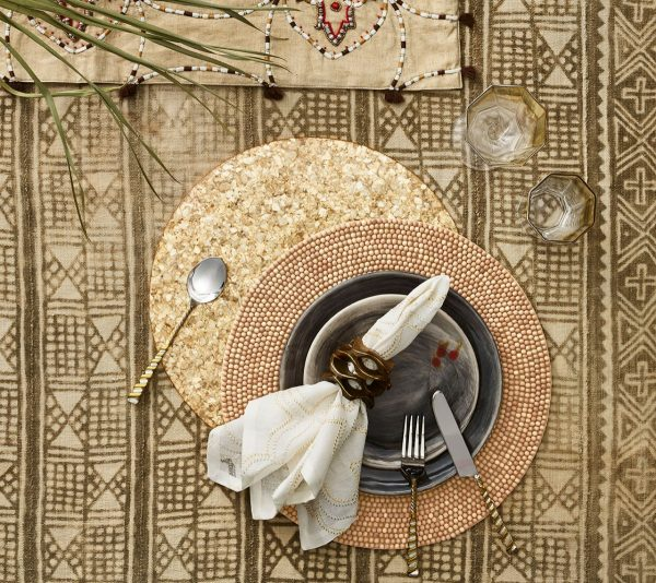 Wood Round Placemat in Natural Lifestyle