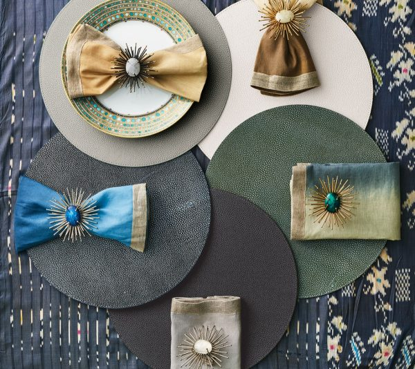 Shagreen Placemat in Elephant Lifestyle