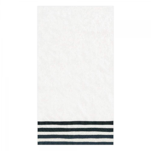 Border Stripe Paper Guest Towel Napkins in Black & White