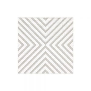 Chevron Paper Cocktail Napkins in Pale Silver