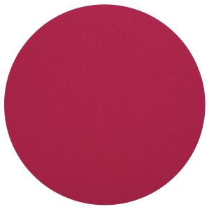 Classic Canvas Round Felt Backed Placemat in Fuchsia