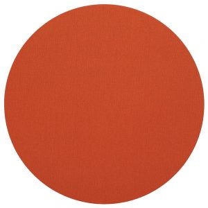 Classic Canvas Round Felt Backed Placemat in Orange