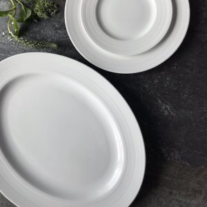 Cambridge Stripe Large oval Lifestyle platter