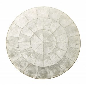 Round Capiz Placemat in Natural