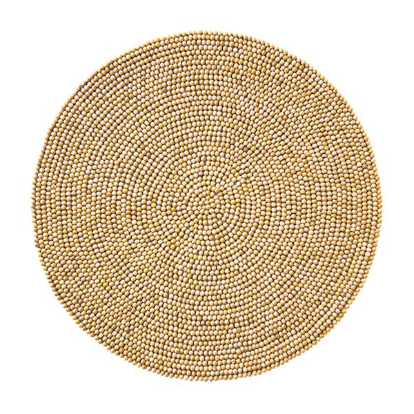 Wood Round Placemat in Natural