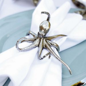 Pewter Octopus Napkin Ring 5