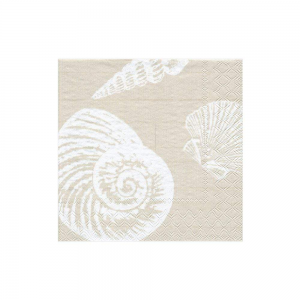 Shells paper cocktail Napkins in Sand
