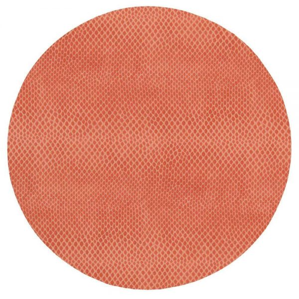 Snakeskin Felt Backed Placemat in Coral