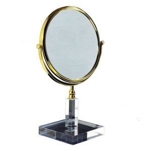 Solid 3x Magnifying Mirror Gold