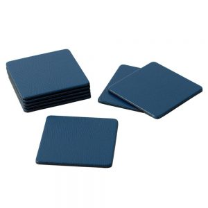Square Lizard Coasters in Navy