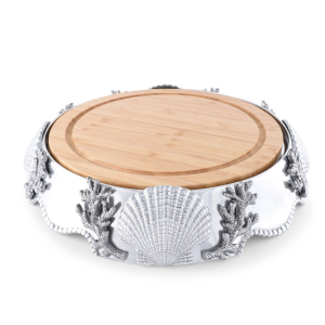 Coastal Wood Cheese Pedestal