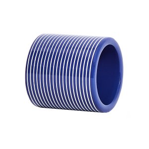 Navy & White Lacquer Stripe Napkin Ring (1)