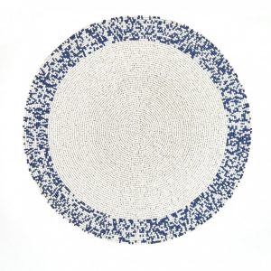 Navy & White Splatter Placemat