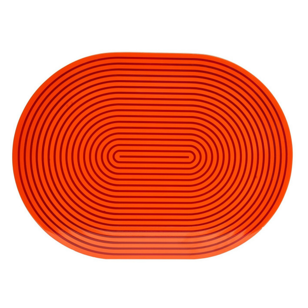Orange & Red Lacquer Stripe Placemat