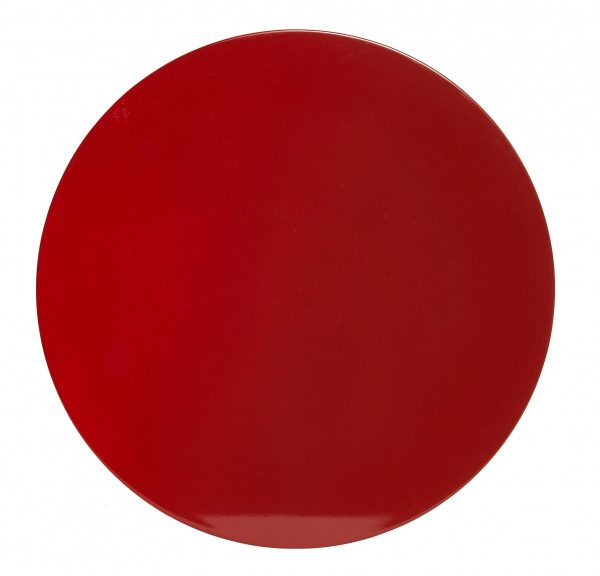 Red Ombre Round Lacquer Placemats