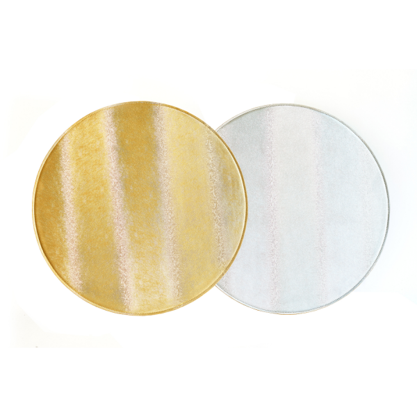 Silver & Gold Round Reversible Placemat (1)