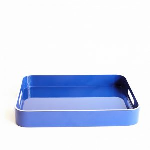 Small Blue White Lacquer Tray