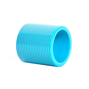 Turquoise & Silver Lacquer Stripe Napkin Ring
