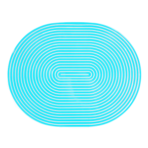 Turquoise & Silver Lacquer Stripe Placemat