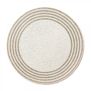 White Sparkle Placemat