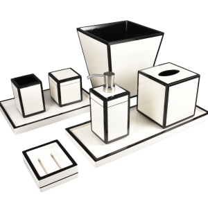 White with Black Bath Set Group