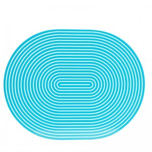 Turquoise & White Lacquer Stripe Placemat