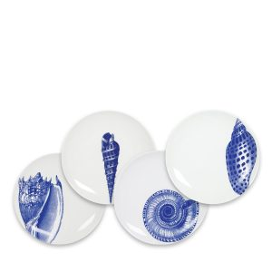 Blue Shells Canapes Mixed Set of 4