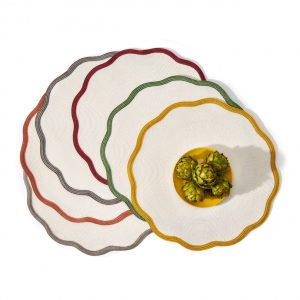 Border Scallop Placemat - Autumn Colors