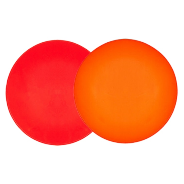 Orange & Red Patent Leather Reversible Placemat