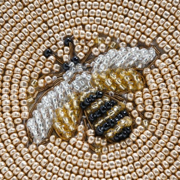 Stripey Bee Placemat Closeup