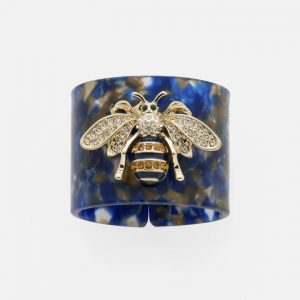 Stripey Bee Resin Napkin Rings Set of 4