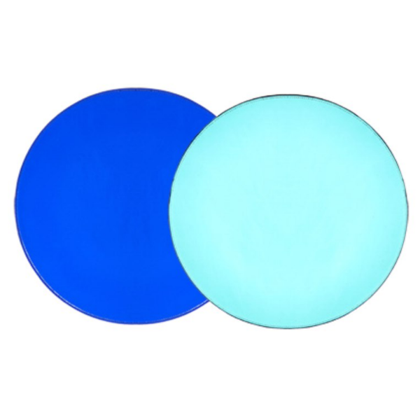 Turquoise & Blue Patent Leather Reversible Placemat