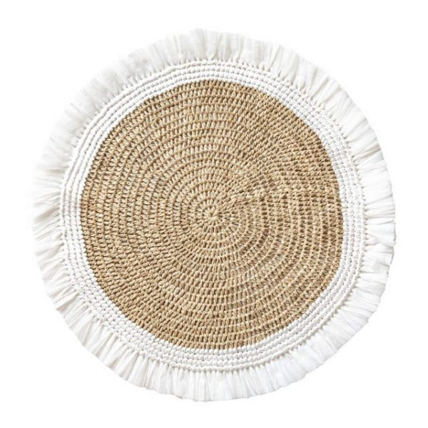 White Woven Rattan Placemat