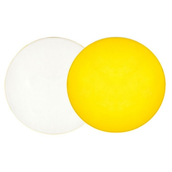 Yellow & White Patent Leather Reversible Placemat